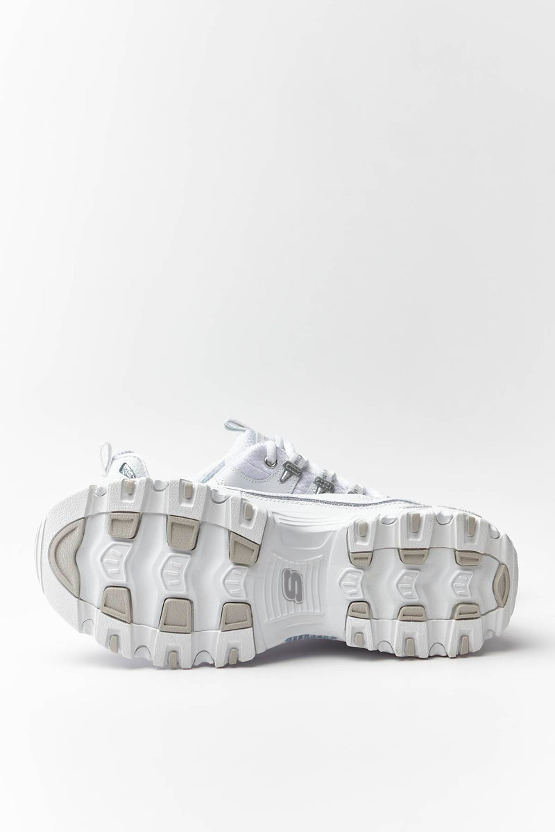 #00010  Skechers Sneakers D'LITES – NOW AND THEN WSL WHITE/SILVER