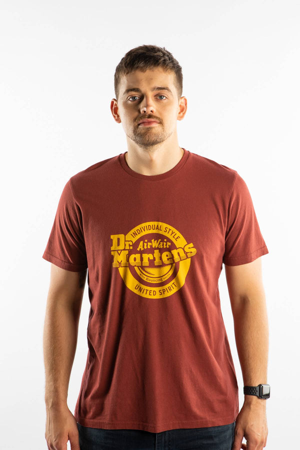 #00087  Dr.Martens T-Shirt LOCK UP LOGO T-SHIRT 623 PORT