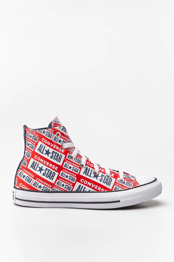 #00103  Converse Turnschuhe CHUCK TAYLOR ALL STAR HI 984 WHITE/MULTI/BLACK