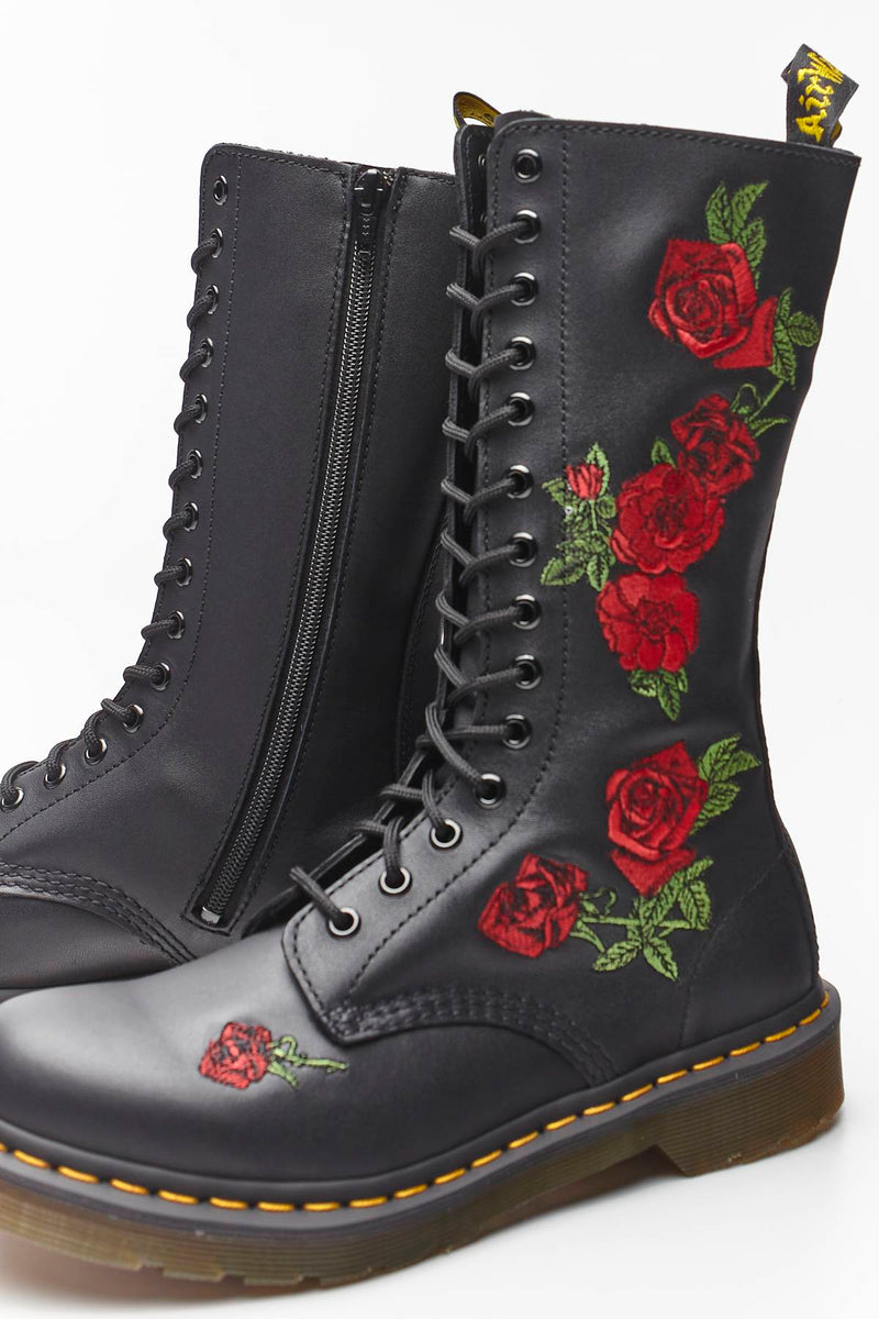 #00067  Dr.Martens High-Top Schuhe Vonda Black DM12761001