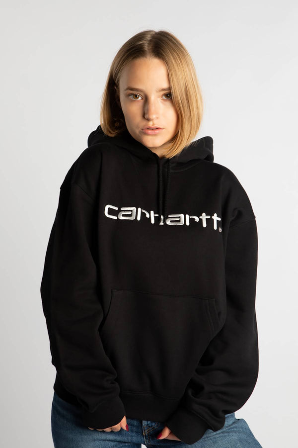 #00043  Carhartt WIP Bluse HOODED CARHARTT SWEATSHIRT 8990 BLACK/WHITE