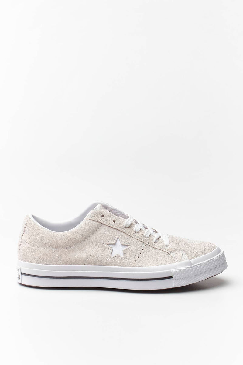 #00085  Converse Turnschuhe ONE STAR SUEDE WHITE