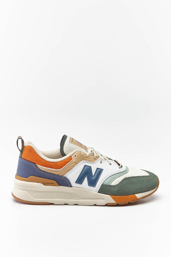 #00008  New Balance Sneakers CM997HAN SPRING HIKE SLATE GREEN WITH STONE BLUE/LINEN FOG