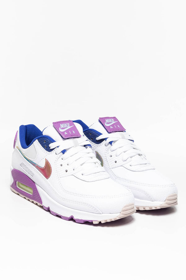 #00032  Nike Sneakers W Air Max 90 SE 623 WHITE / MULTI COLOR / PURPLE NEBULA