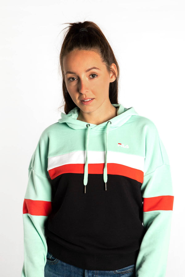 #00047  Fila Bluse ELLA HOODY A211 MIST GREEN/BLACK/BRIGHT WHITE/TRUE RED