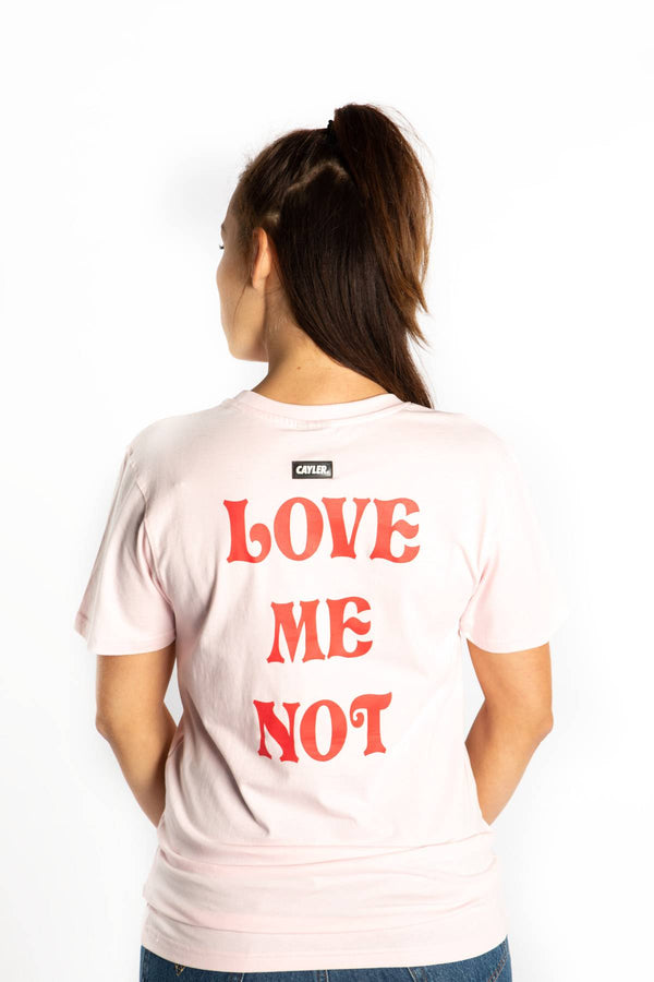 #00001  Cayler & Sons T-Shirt LOVE ME NOT TEE 01891 PALE PINK/MC