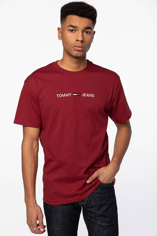 #00003  Tommy Jeans T-Shirt S/S T-Shirts DM0DM09382-XLK RED