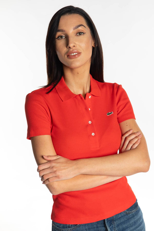 #00002  Lacoste T-Shirt WOMEN POLO S5H RED