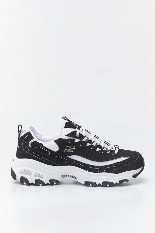 #00008  Skechers Sneakers D'LITES – BIGGEST FAN BKW BLACK/WHITE