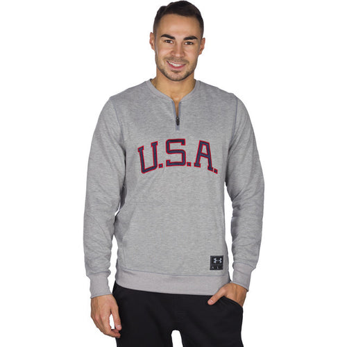 #05537  Under Armour Bluse Clay 1/4 Zip Americana Crew 025