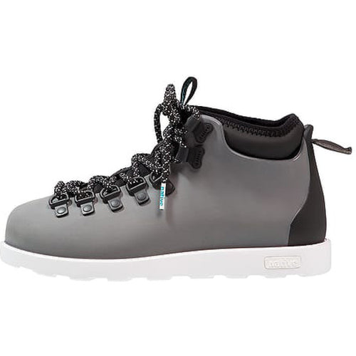 #00261  Native High-Top Schuhe Fitzsimmons Block Dublin Grey/Shell White 8189