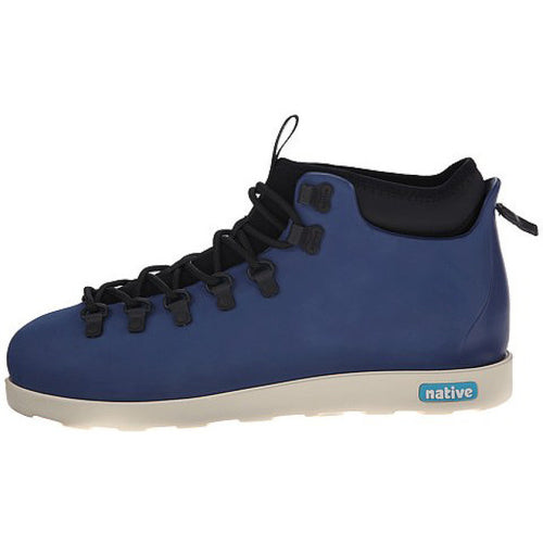 #00258  Native High-Top Schuhe Fitzsimmons Regatta Blue Bone White 4200