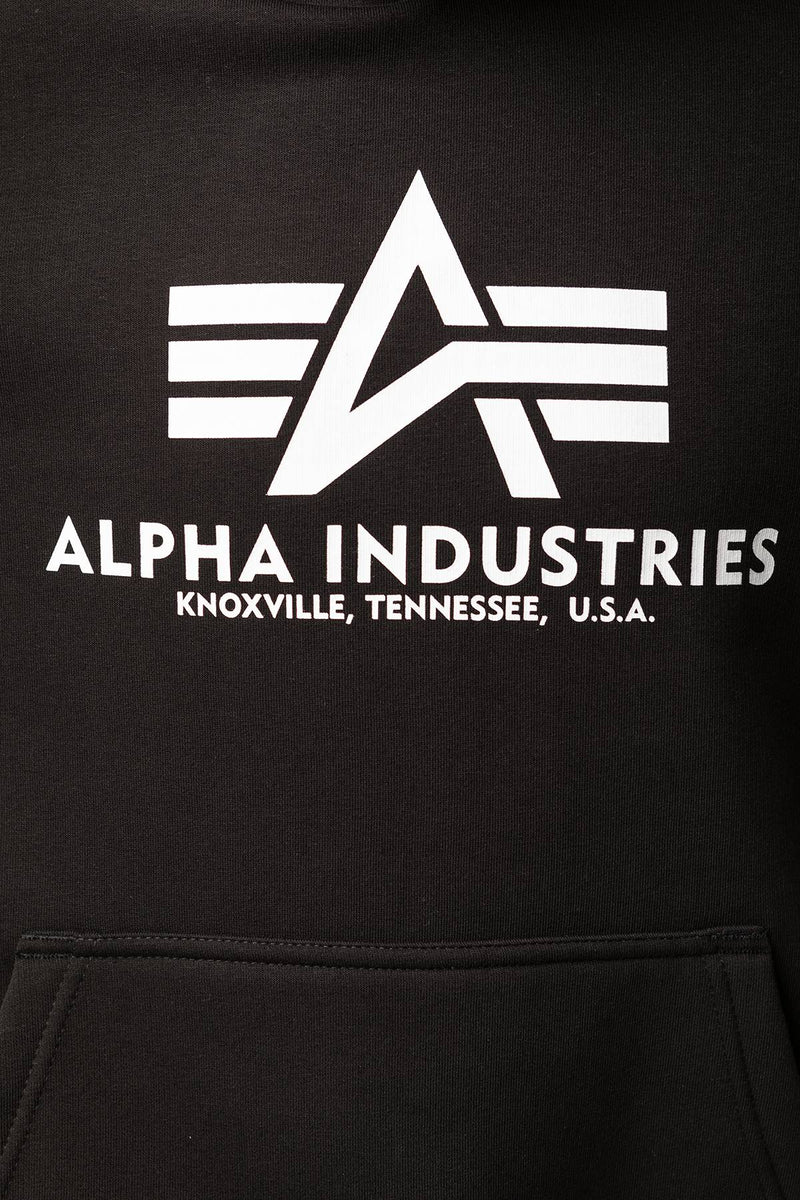 #00009  Alpha Industries Bluse BASIC HOODY 03 BLACK