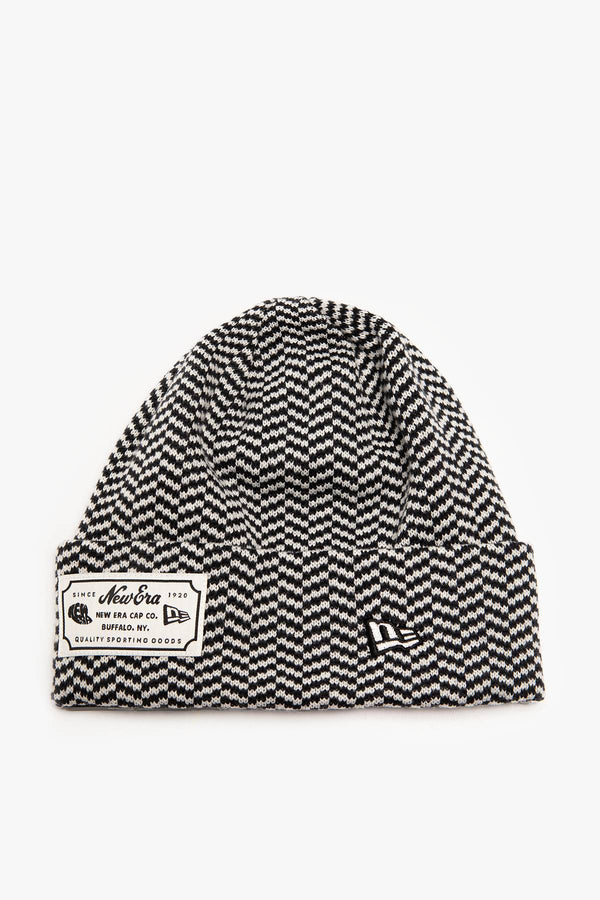 #00007  New Era Mütze NE HERITAGE 728 NAVY STRIPED CUFF KNIT