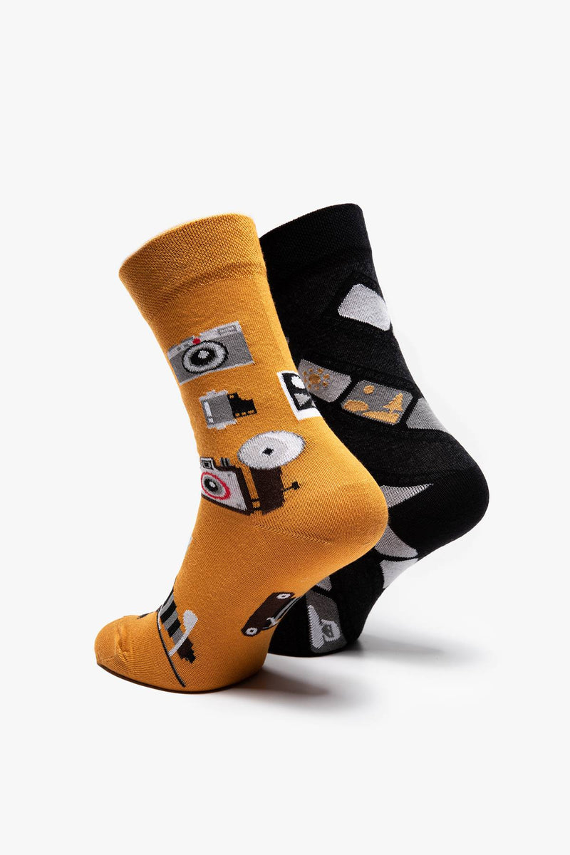 #00079  Many Mornings Socken RETRO CAMERA