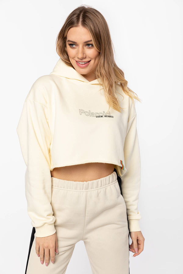 #00002  Local Heroes Bluse RIBBON HEART CROPPED HOODIE LHPLS0001 NUDE