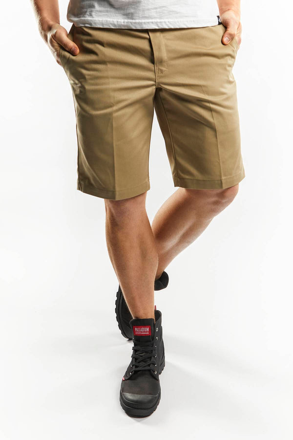 #00011  Dickies Shorts SLIM STRAIGHT WORK SHORTS KHK KHAKI