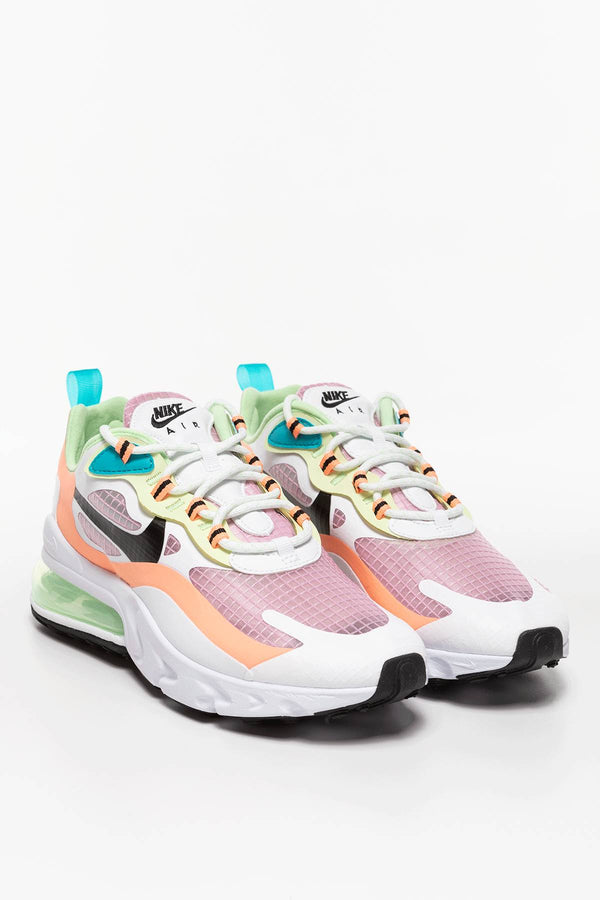 #00043  Nike Sneakers W Air Max 270 REACT SE 620 RÓŻ/ORANGE PULSE/BIEL/CZERŃ