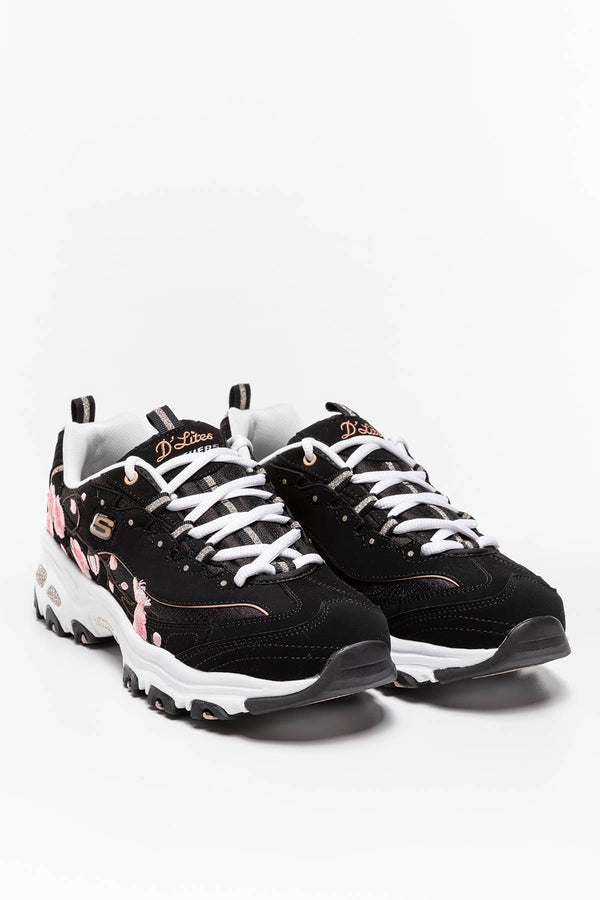 #00003  Skechers Sneakers SOFT BLOSSOM 149239 BLACK/PINK