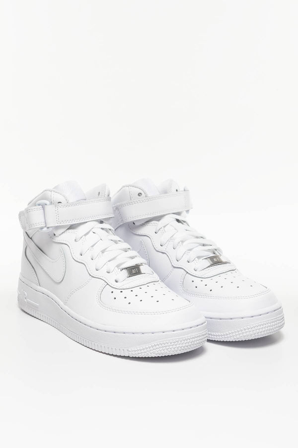 #00032  Nike Sneakers NIKE AIR FORCE 1 MID 195 WHITE