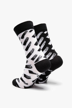 #00087  Many Mornings Socken Brush Strokes