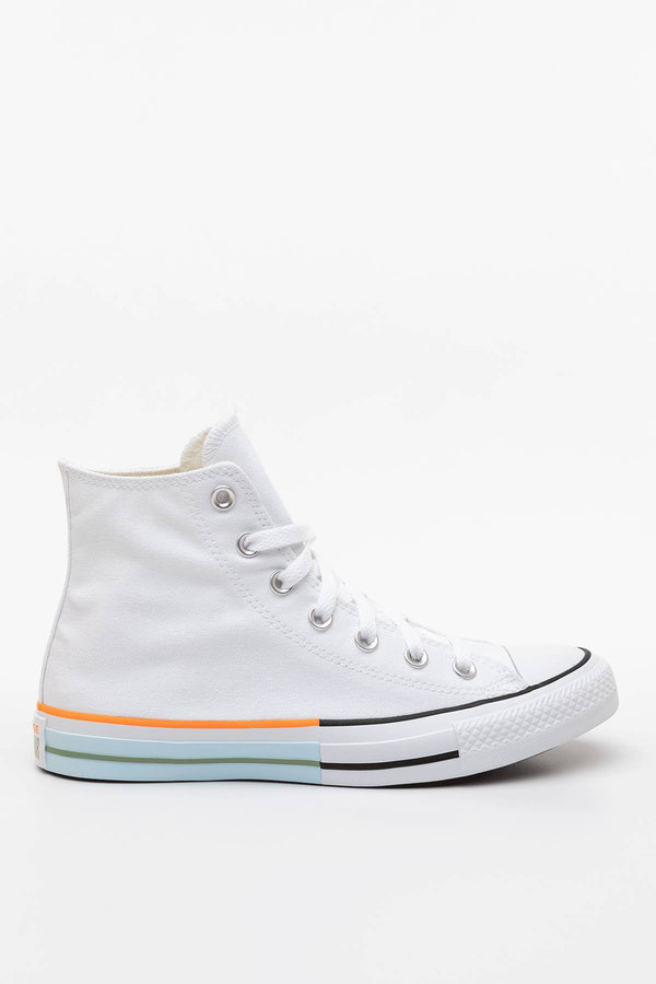#00047  Converse Turnschuhe SUNBLOCKED CHUCK TAYLOR ALL STAR HI 751 WHITE/STREET SAGE/AGATE BLUE
