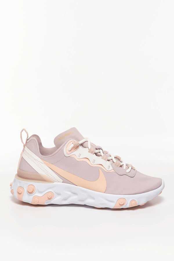 #00038  Nike Sneakers W REACT ELEMENT 55 BQ2728-012 PLATINUM VIOLET/SCHIMMER