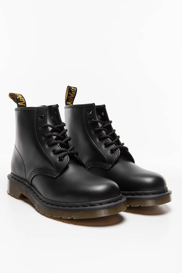 #00025  Dr.Martens High-Top Schuhe 101 Black Smooth DM24255001 BLACK