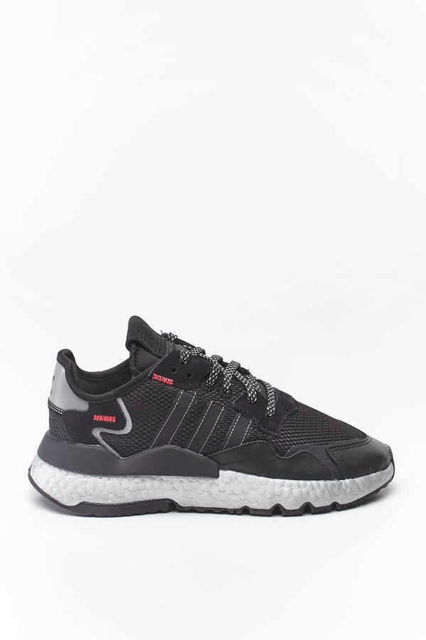 #00033  adidas Sneakers NITE JOGGER 137 CORE BLACK/SHOCK RED/SILVER METALLIC