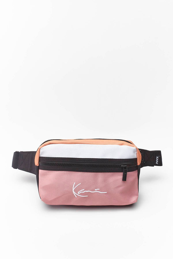 #00032  Karl Kani Gürteltasche SIGNATURE HIP BAG 121 PINK/BLACK/WHITE