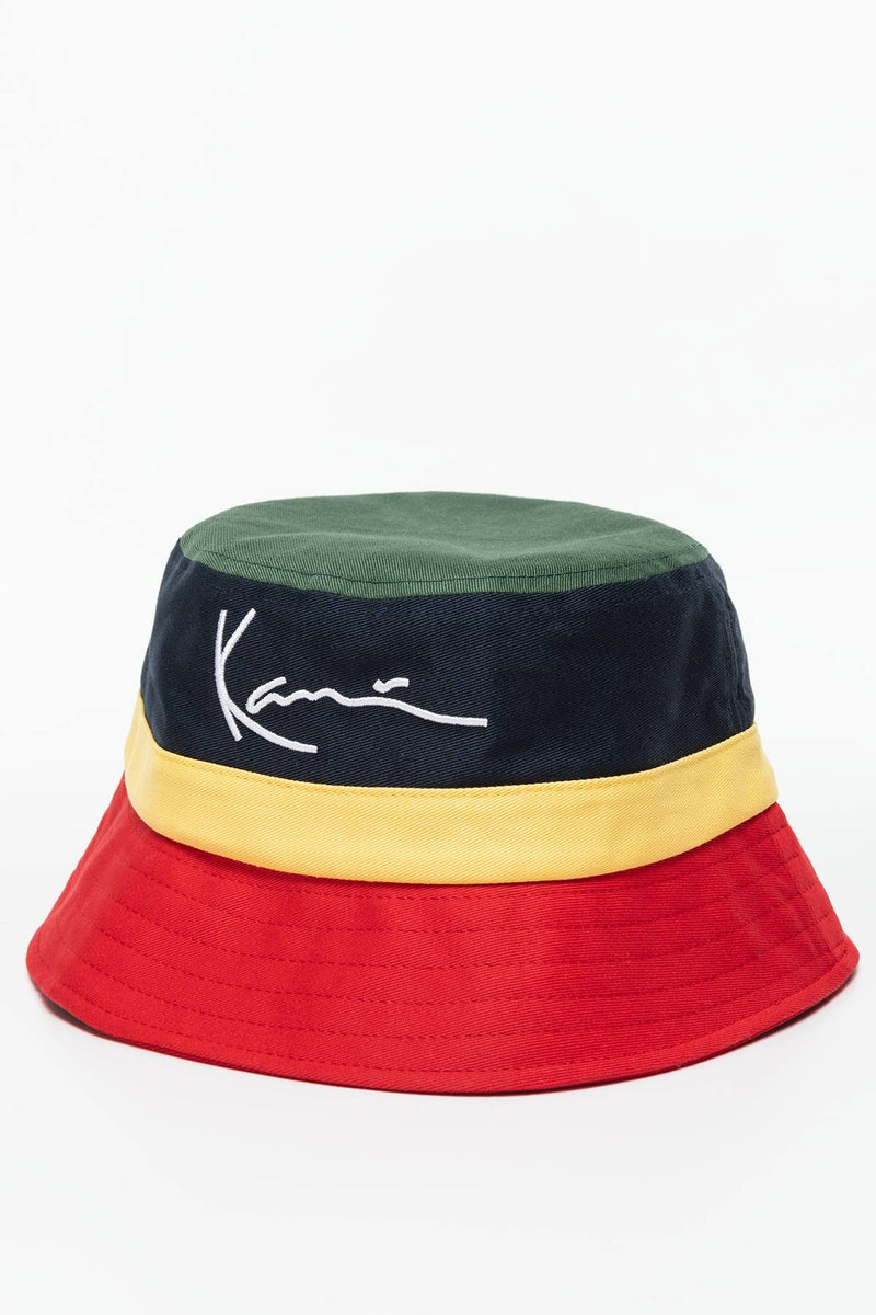 #00026  Karl Kani KARL KANI CAP 136 GREEN/NAVY/YELLOW/RED