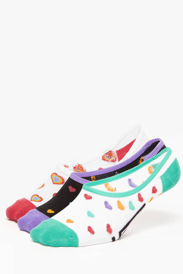 #00013  Vans WM 6.5-10 3PK 481 RAINBOW MULTI