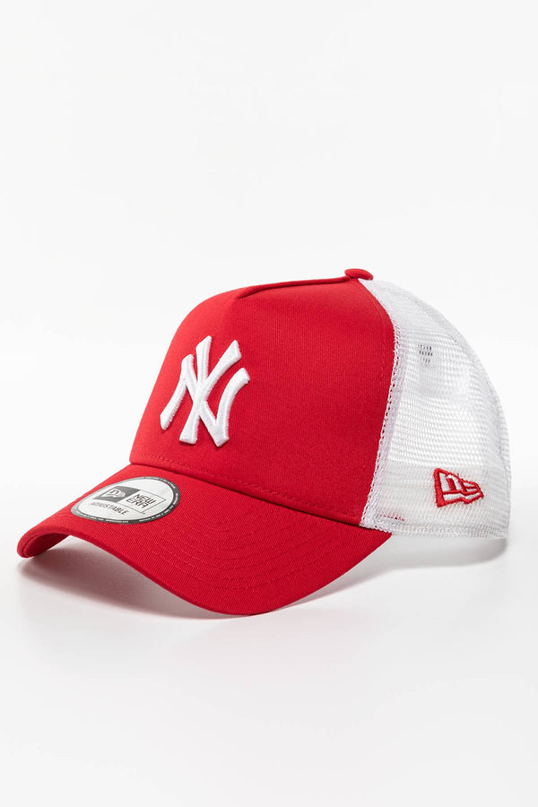 #00014  New Era Mütze CLEAN TRUCKER 488 RED/WHITE