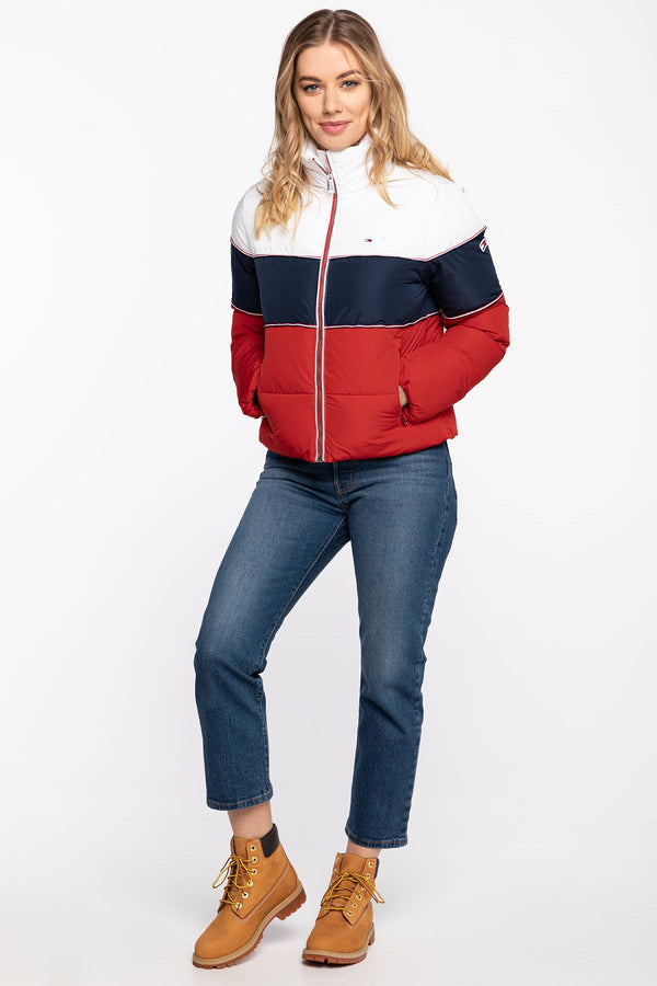 #00012  Tommy Jeans Jacke Jackets DW0DW08846-C87 WHITE/RED/NAVY