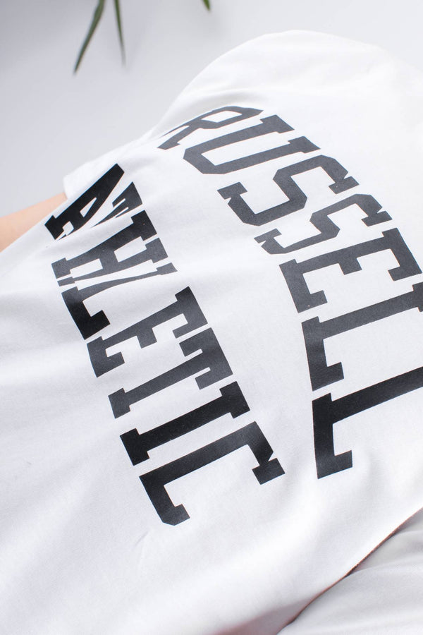 #00004  Russell Athletic T-Shirt CREW NECK TEE 001 WHITE
