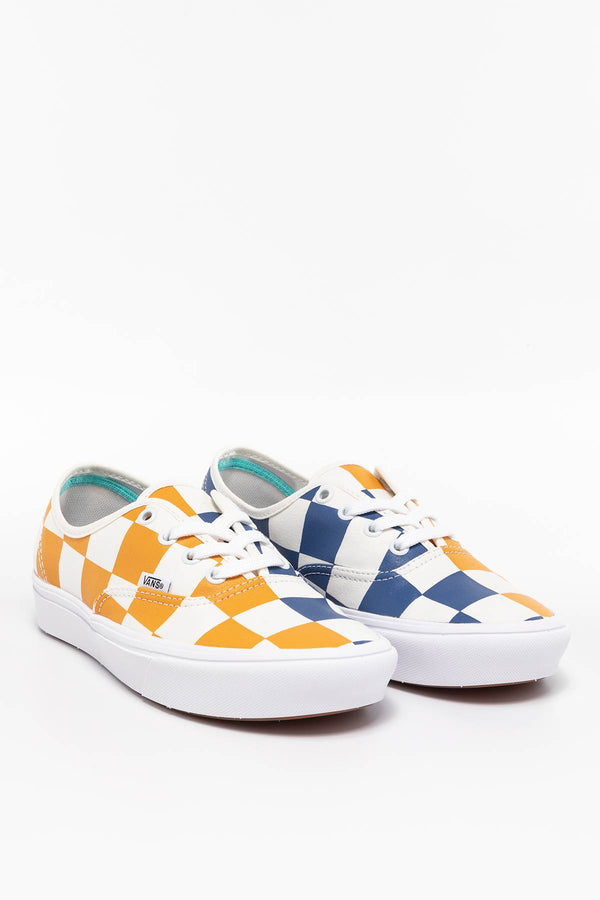 #00053  Vans Turnschuhe COMFYCUSH AUTHENT WW8 (HALF BIG CHECKER) CADMIUM YELLOW/BLUE