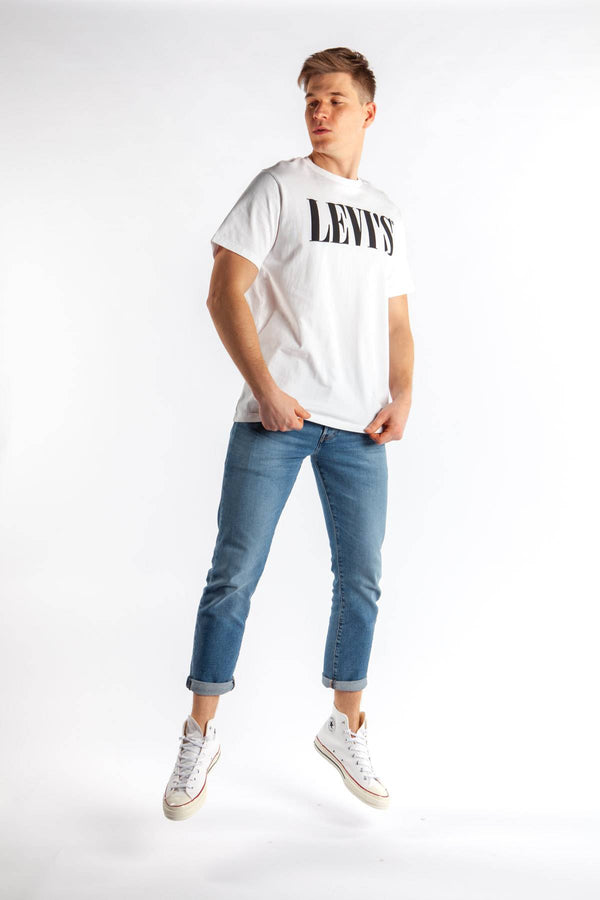 #00025  Levi's T-Shirt RELAXED GRAPHIC TEE 0026 90'S SERIF LOGO WHITE/NEUTRAL