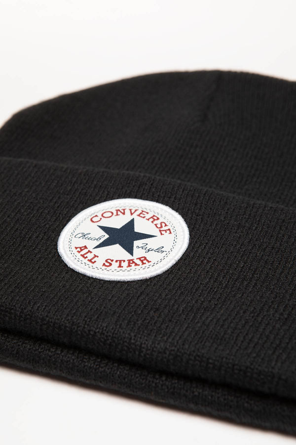 #00188  Converse Mütze 10019012-A01 Chuck Patch Tall Beanie BLACK