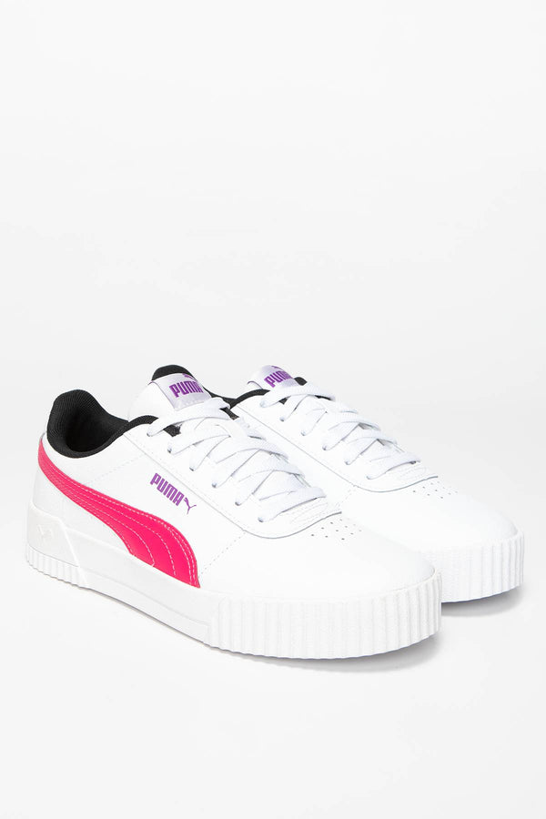 #00020  Puma Sneakers Carina L 37032504 WHITE - NRGY ROSE