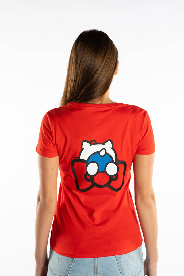 #00108  Converse T-Shirt HELLO KITTY TEE 633 RED