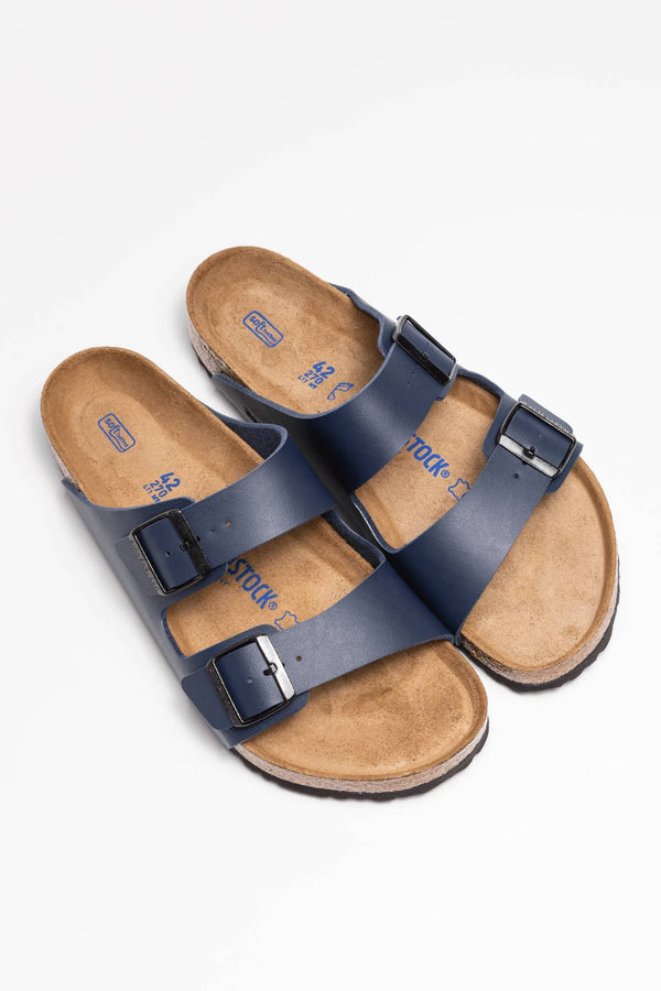 #00002  Birkenstock Pantoffeln ARIZONA SOFT FOOTBED BF 51061 BLUE