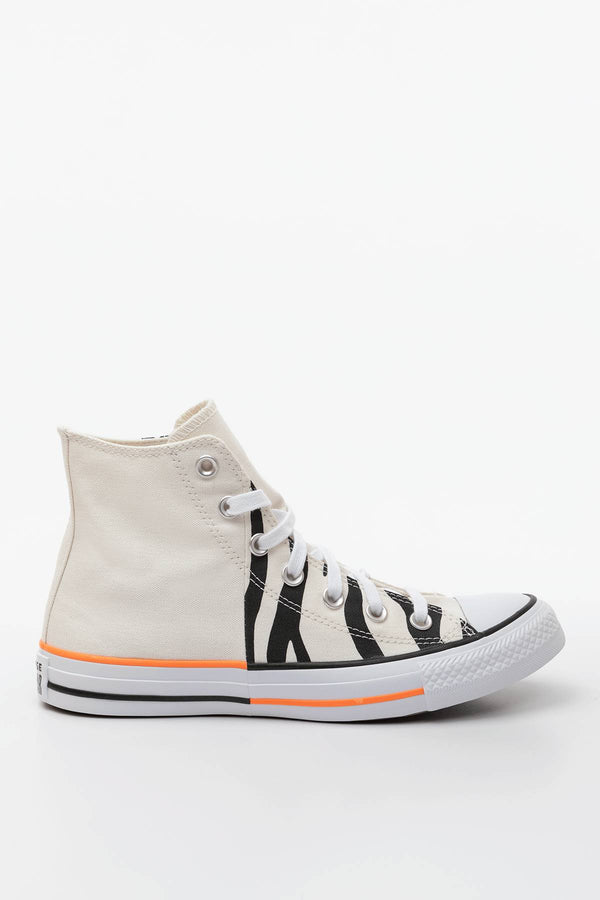 #00062  Converse Turnschuhe CHUCK TAYLOR ALL STAR HI 661 EGRET/TOTAL ORANGE/BLACK