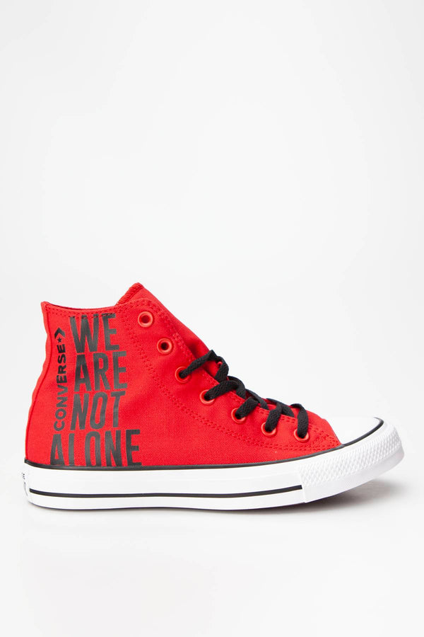 #00116  Converse Turnschuhe CHUCK TAYLOR ALL STAR HI 467 ENAMEL RED/BLACK/WHITE