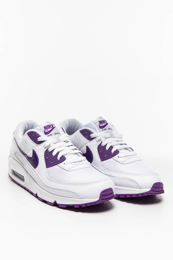 #00009  Nike Sneakers Air Max 90 CT1028-100 WHITE/VOLTAGE PURPLE-BLACK
