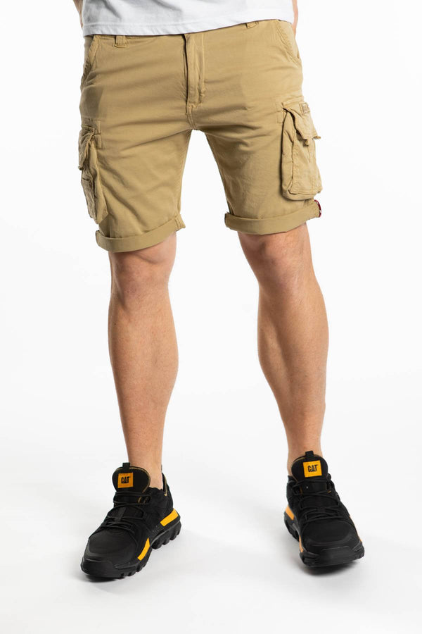 #00045  Alpha Industries Shorts CREW SHORT 14 SAND