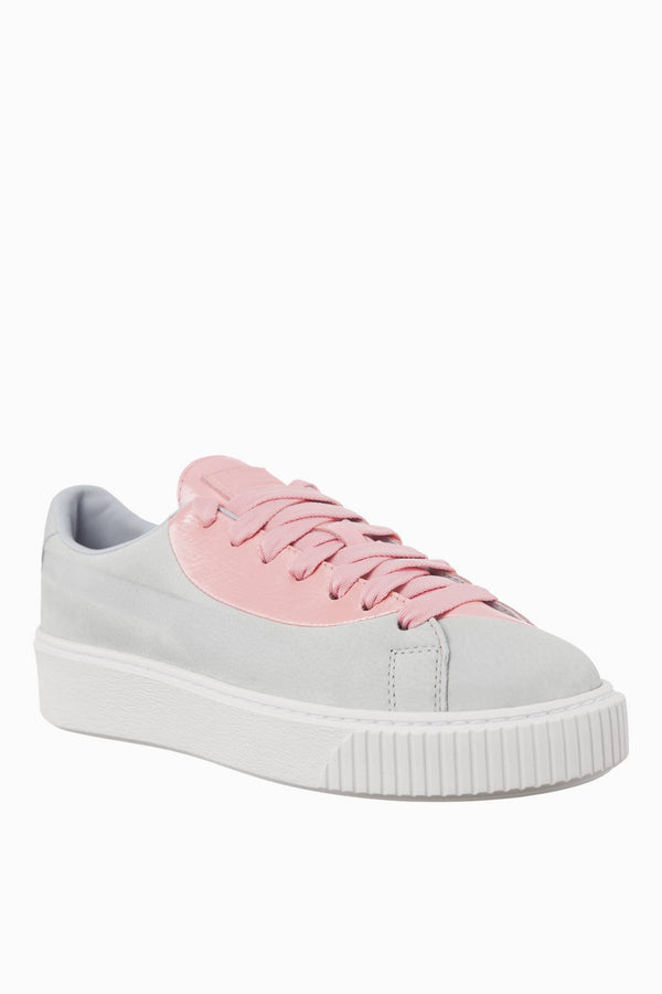 #00013  Puma Sneakers BASKET PLATFORM VALENTINE GREY DAWN