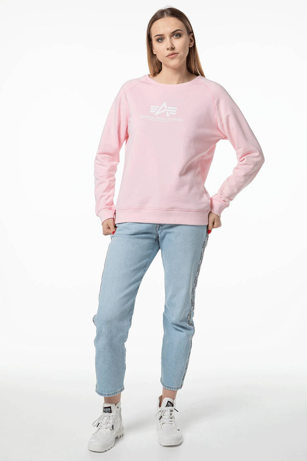 #00151  Alpha Industries Bluse NEW BASIC SWEATER WMN 491 PASTEL PINK