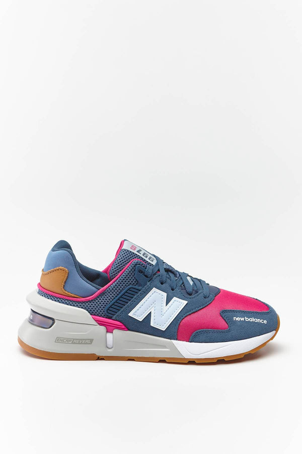#00013  New Balance Sneakers WS997JGA STONE BLUE WITH EXUBERANT PINK