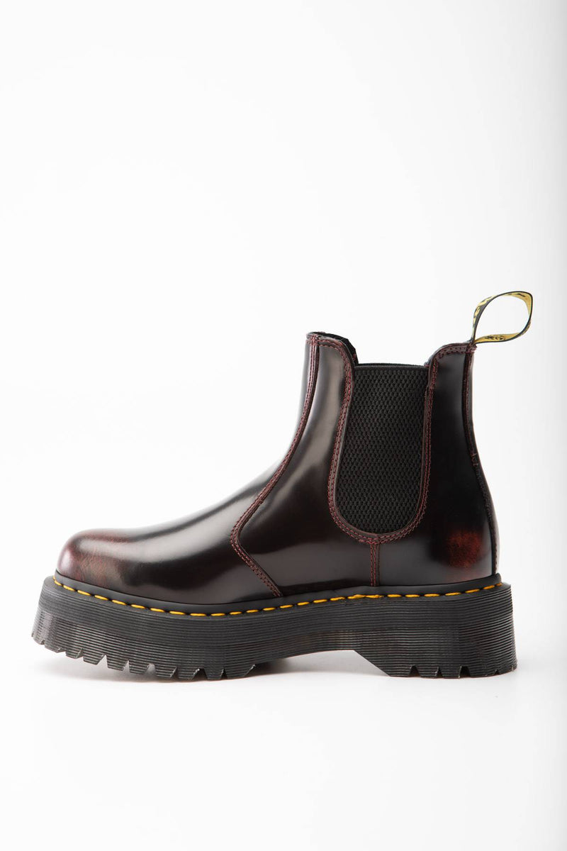 #00075  Dr.Martens High-Top Schuhe 2976 ARCADIA PLATFORM CHELSEA BOOTS CHERRY RED