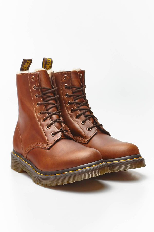 #00020  Dr.Martens High-Top Schuhe FUR-LINED 1460 SERENA ORLEANS BUTTERSCOTCH
